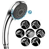 シャワーヘッド ハンドシャワー 7段階調節モード 節水シャワー クロムメッキ 1.5Mステンレス製シャワーホース付き 国際汎用基準G1/2 工具不要 簡単に取り付き Homecube