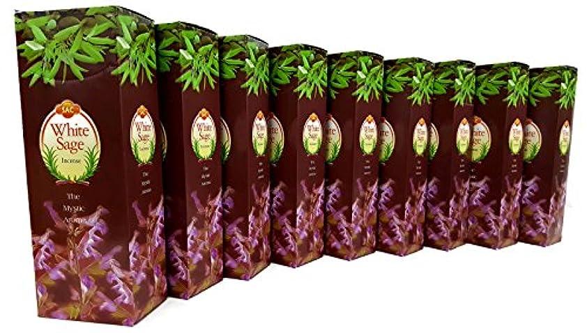 乱用忠実なナイロンJBJ Sacホワイトセージ9ボックスの120 Incense Sticks 080 Sticks =。