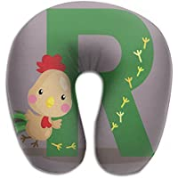 Merlin Quintina アルファベット 雄鶏 抱き枕 U字型クッション 首枕 ネッククッション 旅行ピロー360度快適な睡眠 子宮頸椎 保護 ポータブル