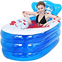 sunhai & Inflatable Bathtub Thick大人子供Folding Bathクリップコットン断熱材Antifreeze