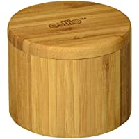 Estilo Single Round Salt or Spice Box with Lid, Bamboo