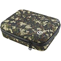 GoPro Water Resistant Case by CamKix - Weatherproof Travel Case for GoPro Hero 1, 2, 3, 3+ and accessories - Keep Your GoPro and Equipment Fully Protected - CamKix? Microfiber Cleaning Cloth and 1 Pair of Anti-Fog Inserts Included (Medium/Camouflage)