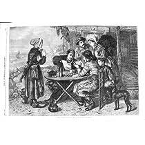 1866 幸運な第宝くじ場面ルーカスの芸術の旧式な印刷物?