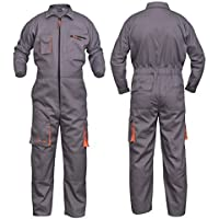 Grey Work Wear メンズ オーバーオール ボイラースーツカバーオール メカニック ボイラースーツ 保護