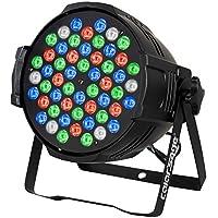 COLOR'SAGE ステージライト DMX512 ディスコライト ステージ照明 54個 LED 舞台照明 RGBW 170W スポットライト 自走機能 音声起動 DJ PARライト 多色変化 ストロボ 誕生日/劇場/演出/ステージ/バー 照明用ライト(54LED RGBW)