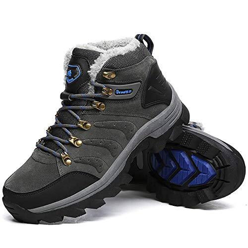 [58FA] ハイキングシューズ 大きいサイズ 防滑 トレッキングシューズ 防寒靴 スノーブーツ 軽量 アウトドアスニーカー スウェードキャンプシューズ 耐磨耗