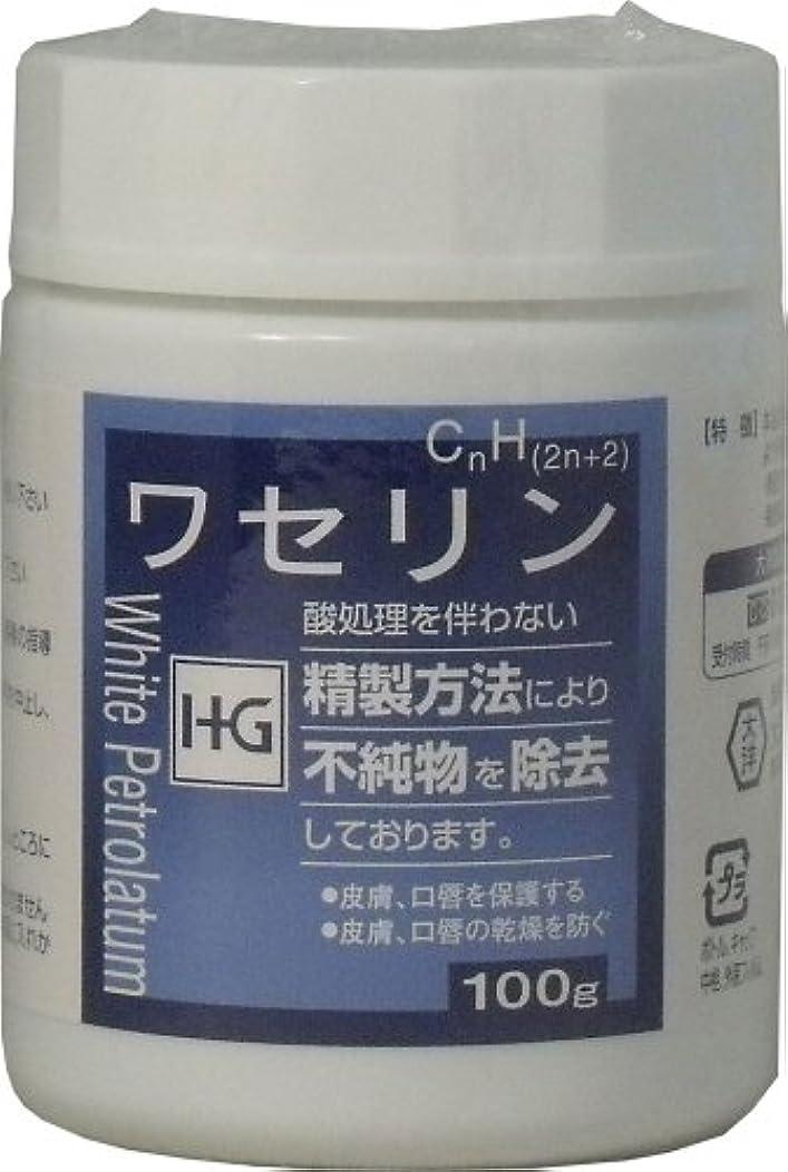 論理衝突する束ねる皮膚保護 ワセリンHG 100g ×3個セット
