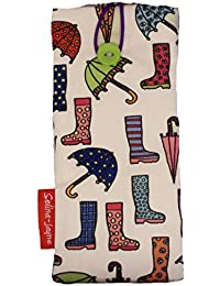 selina-jayne Wellies and Brollies Limited Edition Designer Soft Fabricメガネケース