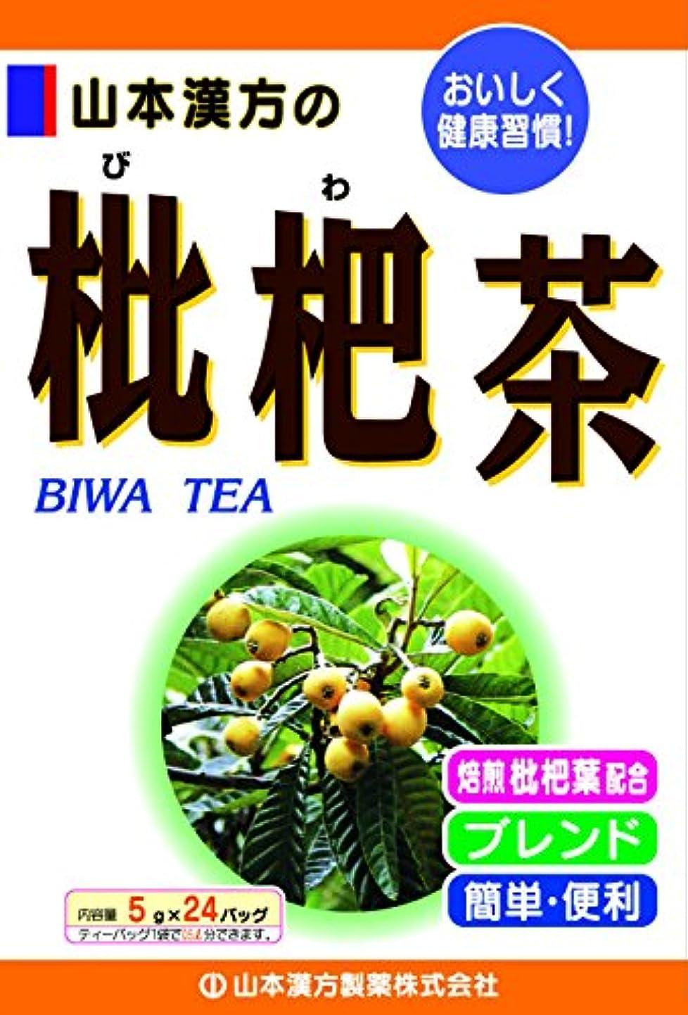 不機嫌ポータル熱望する山本漢方製薬 枇杷茶 5gX24H