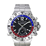 BVLGARI ブルガリ GMT40SSD(6) ディアゴノ プロフェッショナル GMT 時計 腕時計 メンズ 自動巻き ブラック シルバー [並行輸入品]