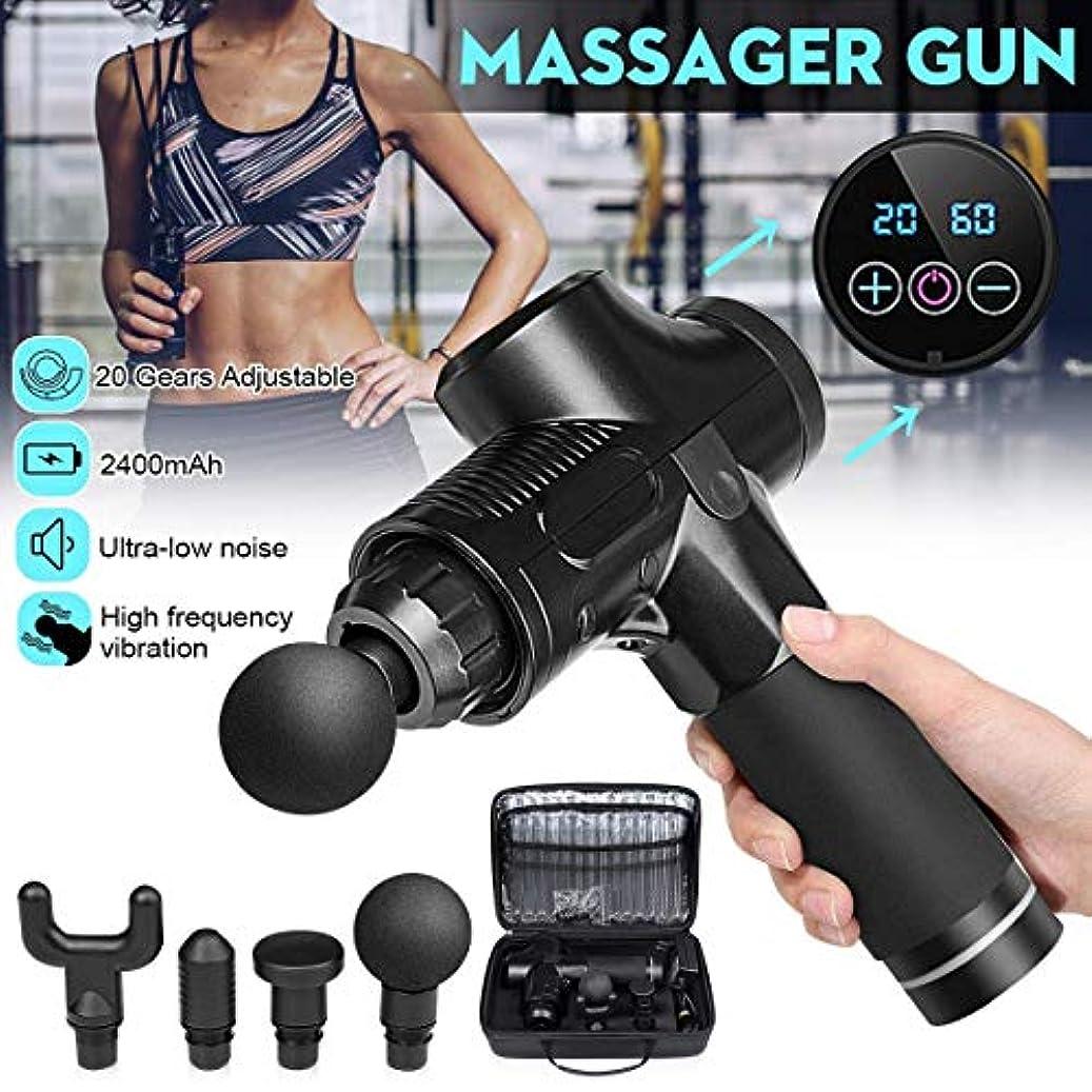 安らぎ致命的黒人Massage Gun, Electric Muscle Massage Gun Vibrating