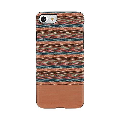 【日本正規代理店品】Man&Wood iPhone7 天然木ケース Browny check アイフォン カバー I8079i7