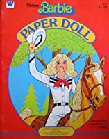 Western Barbie Paper Doll Book w Press Out Fashions (1982 Whitman)