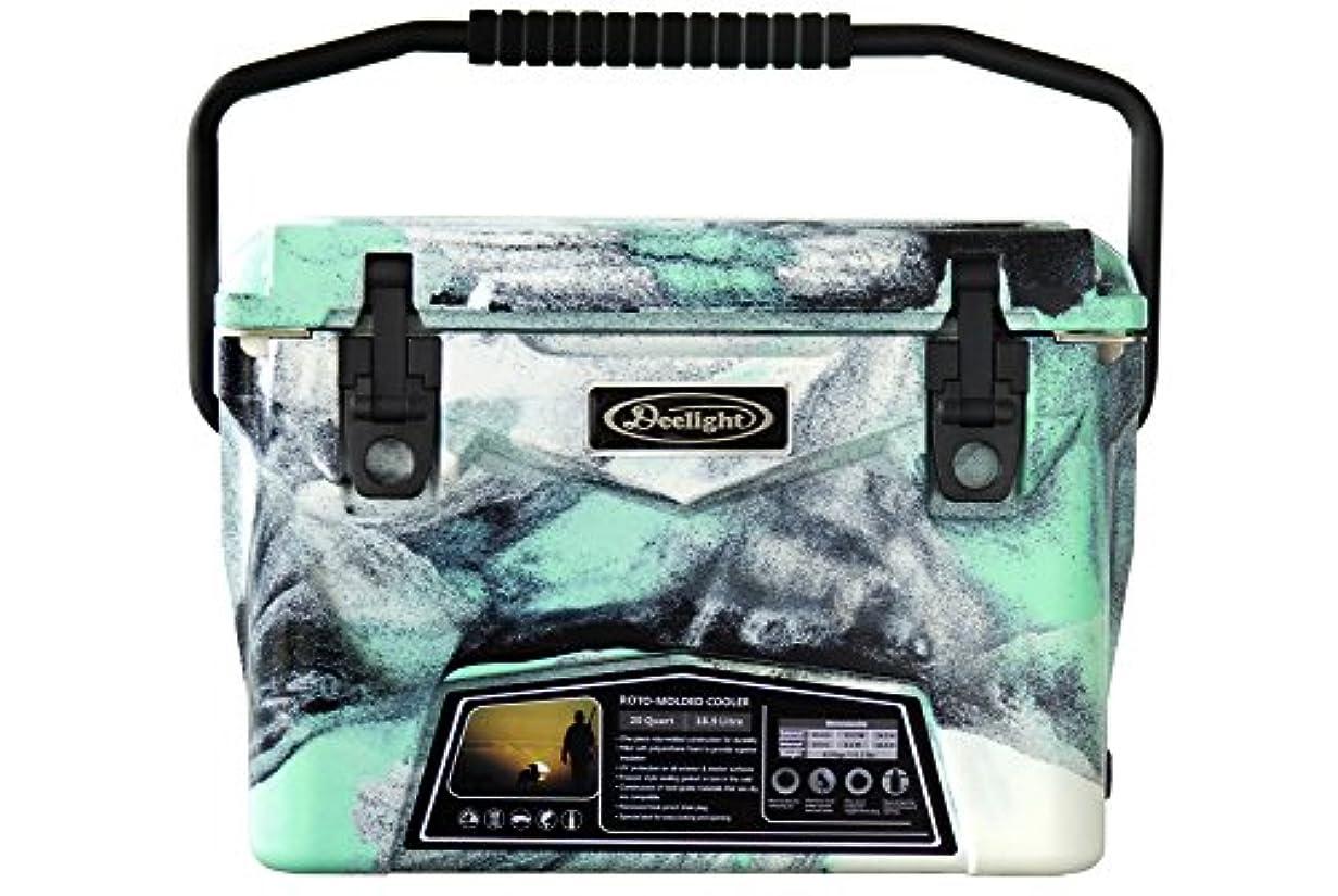 マーキー収入訪問アイスランド クーラーボックス 20qt [ シーフォームグリーンカモ / 18.9L ] Deelight iceland cooler box