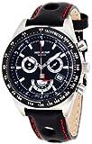 [スイスミリタリー バイグロバナ]SWISS MILITARY by Grovana 腕時計 クロノグラフ ブラック レザー 1622.9576 メンズ 【正規輸入品】
