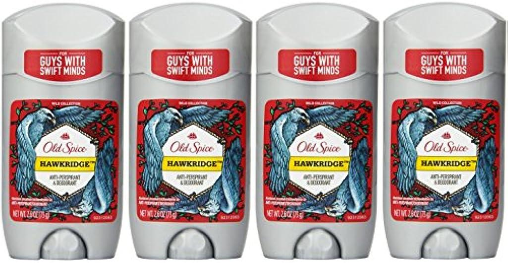 土砂降りかなりの隣接するOld Spice ワイルドコレクションHawkridge香りメンズインビジブルソリッド制汗&デオドラント2.6オズ(4パック) 4パック 明確な