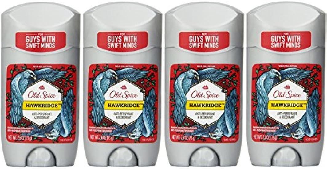 隙間修道院セラーOld Spice ワイルドコレクションHawkridge香りメンズインビジブルソリッド制汗&デオドラント2.6オズ(4パック) 4パック 明確な
