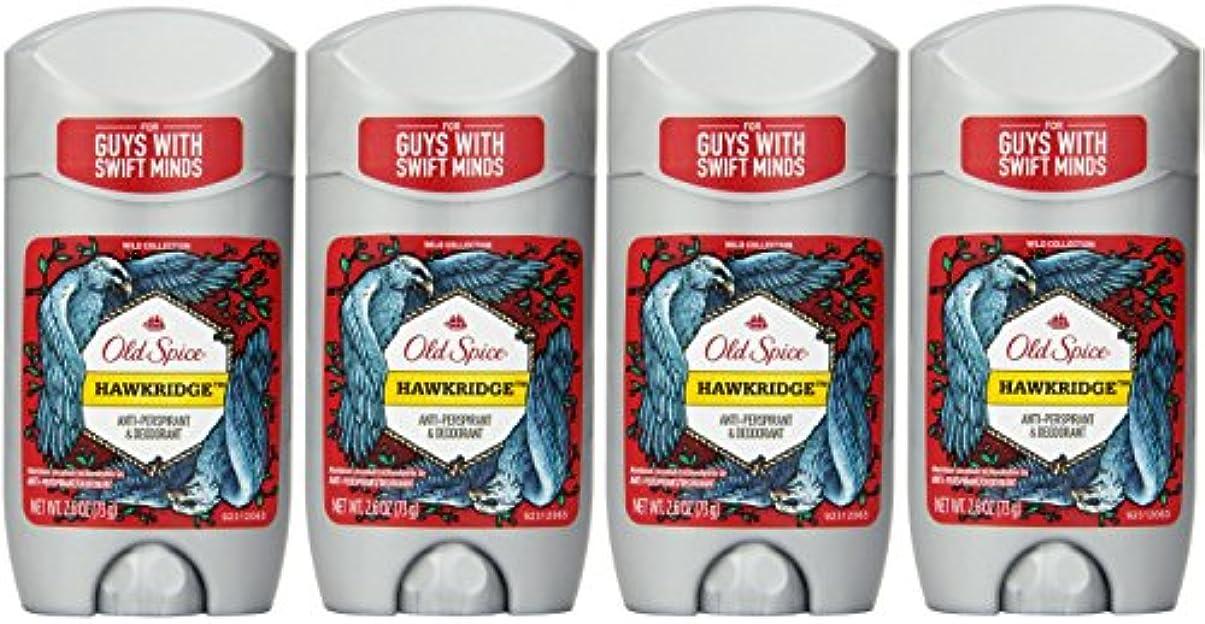 人事覚えている前売Old Spice ワイルドコレクションHawkridge香りメンズインビジブルソリッド制汗&デオドラント2.6オズ(4パック) 4パック 明確な