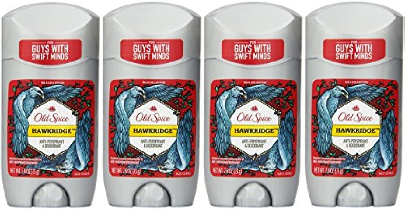 ベイビー発生昼間Old Spice ワイルドコレクションHawkridge香りメンズインビジブルソリッド制汗&デオドラント2.6オズ(4パック) 4パック 明確な