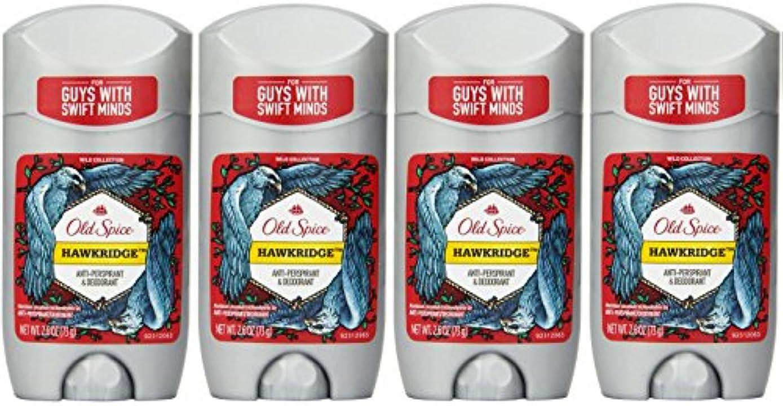 会員慢仲介者Old Spice ワイルドコレクションHawkridge香りメンズインビジブルソリッド制汗&デオドラント2.6オズ(4パック) 4パック 明確な