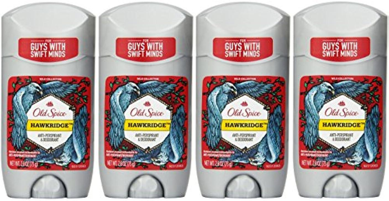 百年ウガンダ斧Old Spice ワイルドコレクションHawkridge香りメンズインビジブルソリッド制汗&デオドラント2.6オズ(4パック) 4パック 明確な