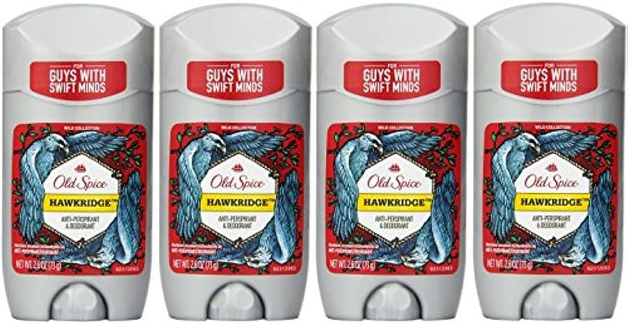 投げるおなじみの純粋にOld Spice ワイルドコレクションHawkridge香りメンズインビジブルソリッド制汗&デオドラント2.6オズ(4パック) 4パック 明確な