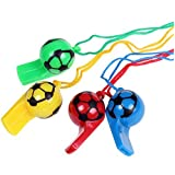 GREATLOVE 20Pcs Color Plastic Football Whistle - Children's Referee Whistle Toys- Party Accessory [並行輸入品]