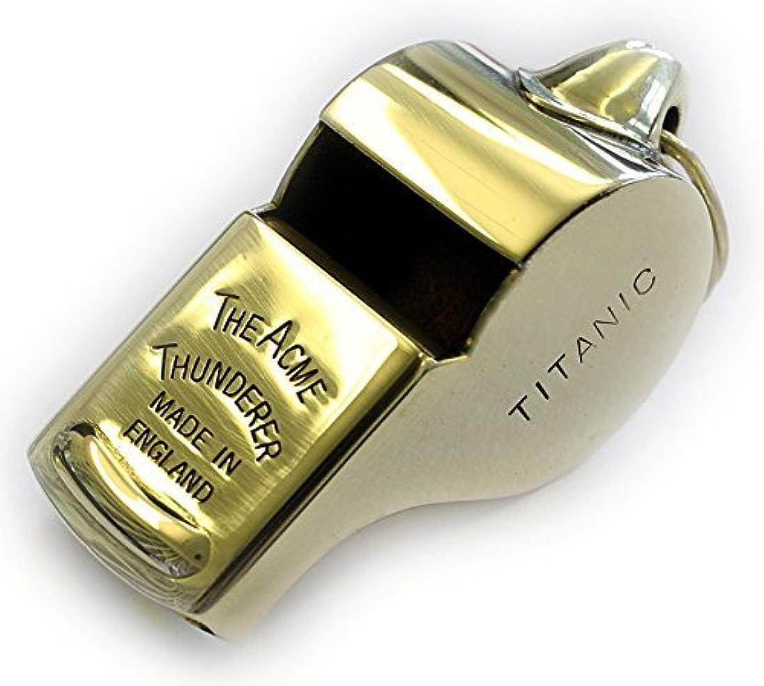 アシュリータファーマンベリーボタンAcme Thunderer Titanic Mates ホイッスル - 光沢真鍮 SS57PB