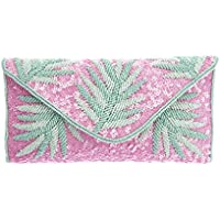 From St Xavier Women's Capri Clutch, Pink/Green, One Size