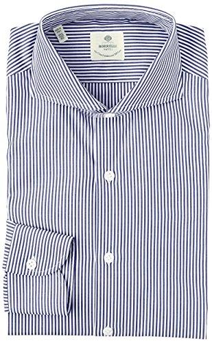(ルイジ ボレッリ)LUIGI BORRELLI(ルイジ ボレッリ) カッタウェイ ストライプ長袖シャツ