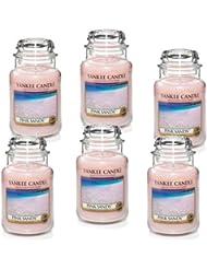 Yankee Candle ピンクサンズ 大瓶 22オンス キャンドル Set of 6 ピンク 1205337X6
