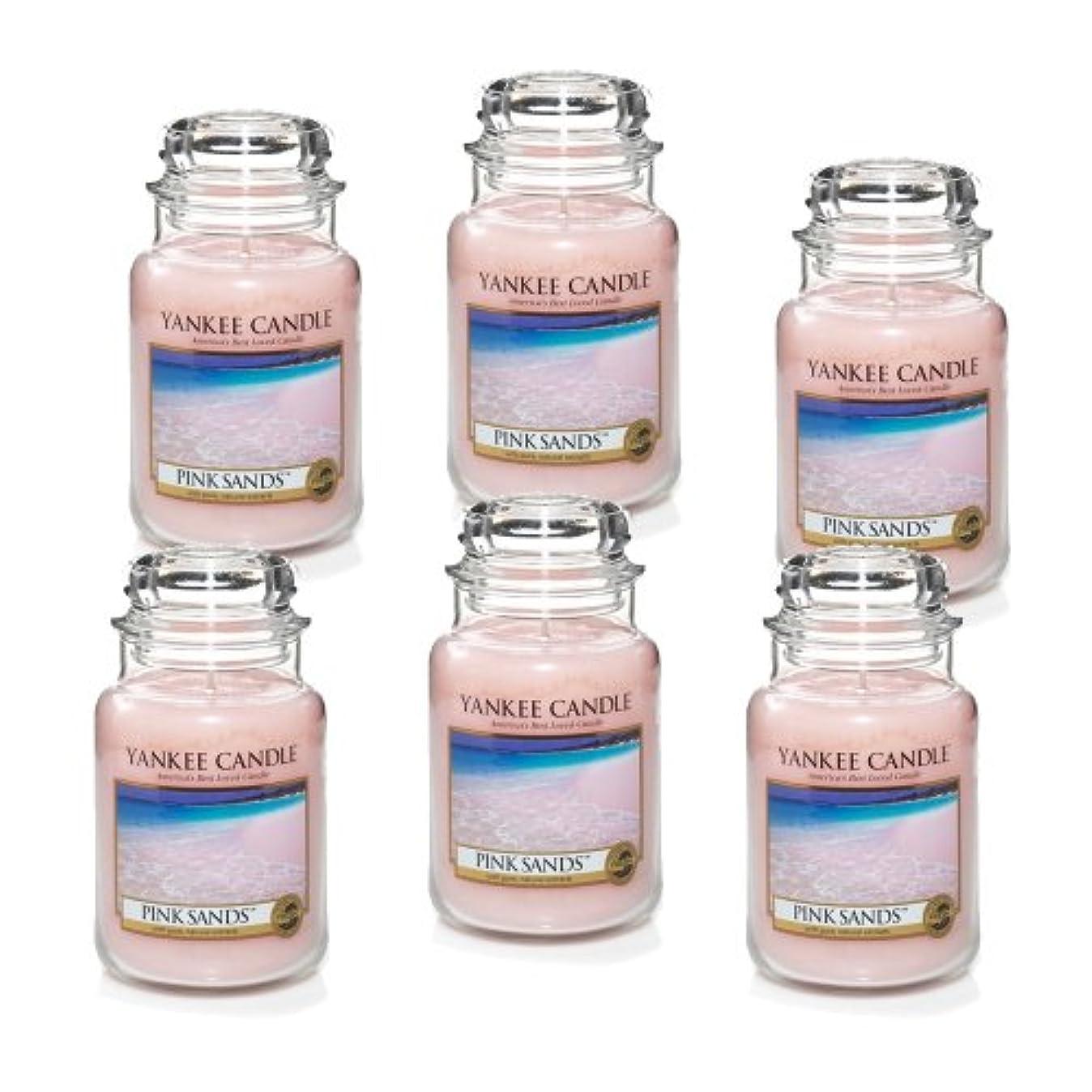 夜任命するへこみYankee Candle ピンクサンズ 大瓶 22オンス キャンドル Set of 6 ピンク 1205337X6