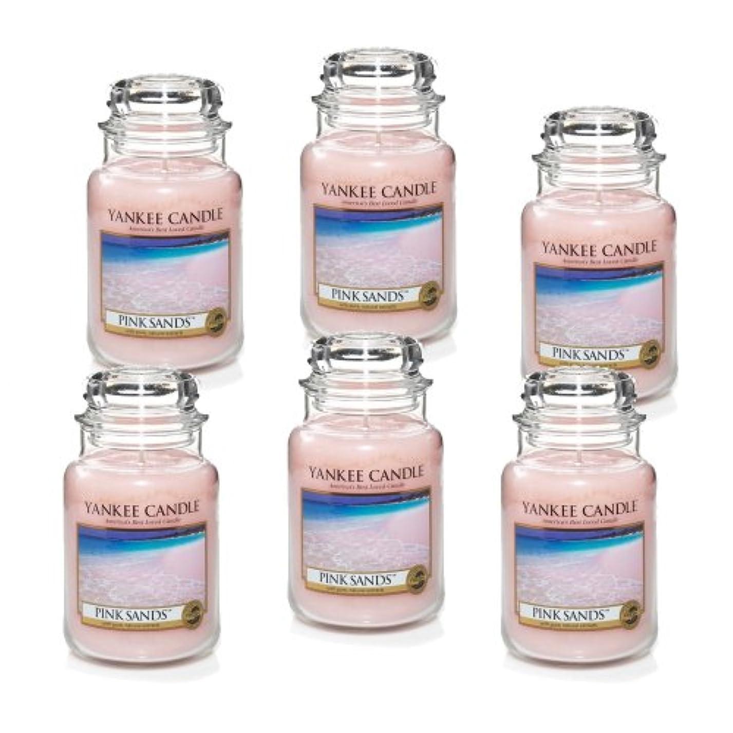 わずかなどんよりしたアレルギー性Yankee Candle ピンクサンズ 大瓶 22オンス キャンドル Set of 6 ピンク 1205337X6