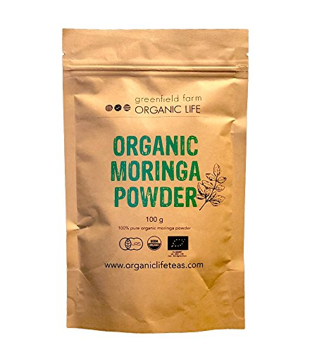 【オーガニック モリンガ パウダー】 100g (有機JAS) (USDA organic) スリランカ産