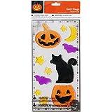 Halloween Gel Window Clings – かぼちゃと黒猫 – 11 Piece