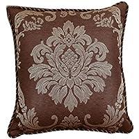 WENJUN 夏のヨーロッパのソファのクッションの枕の居間の生地のソファのクッションの夏の絹の芯のカスタム ( 色 : ライト・ブラウン , サイズ さいず : 46X46cm )
