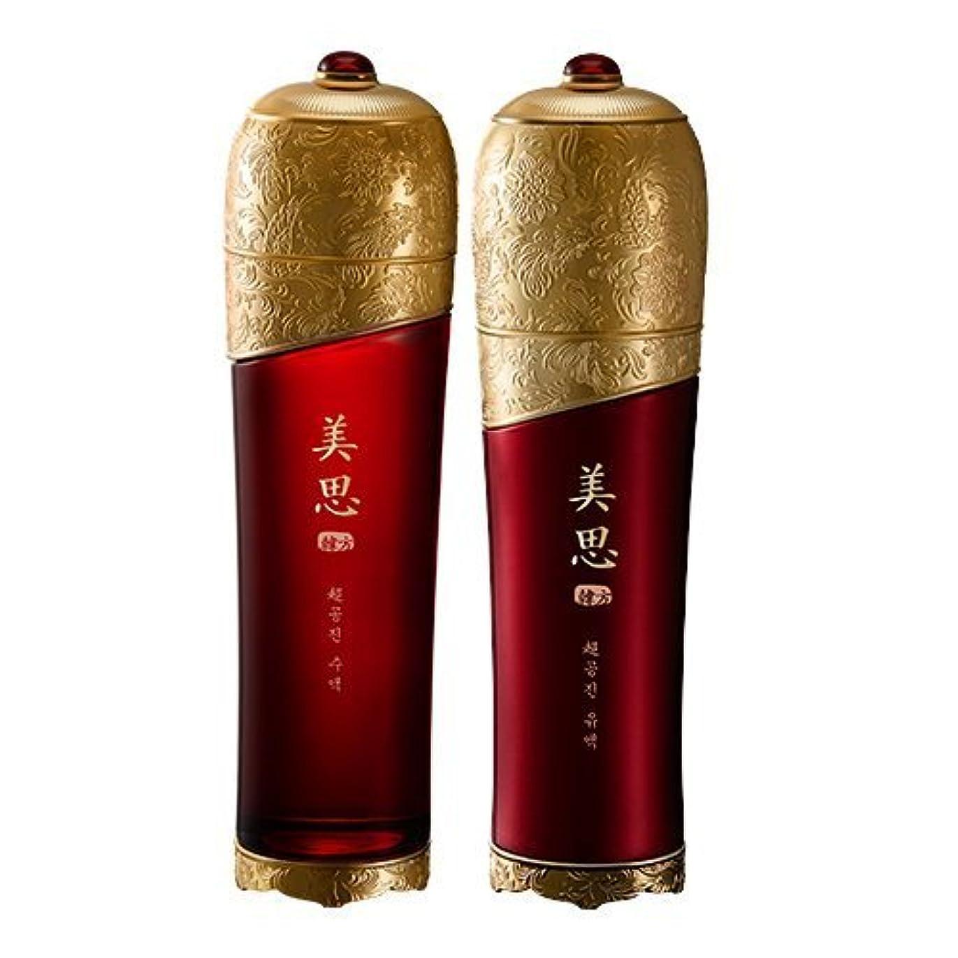 鉄道必要ない粘着性MISSHA(ミシャ) 美思 韓方 チョゴンジン 基礎化粧品 スキンケア 化粧水+乳液=お得2種Set