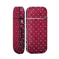 スマコレ IQOS 2.4 Plus 専用 シール 全面 ケース おしゃれ 全面ケース 保護 ステッカー デコ アクセサリー デザイン チェック・ボーダー 水玉 ドット 紫 赤 000105