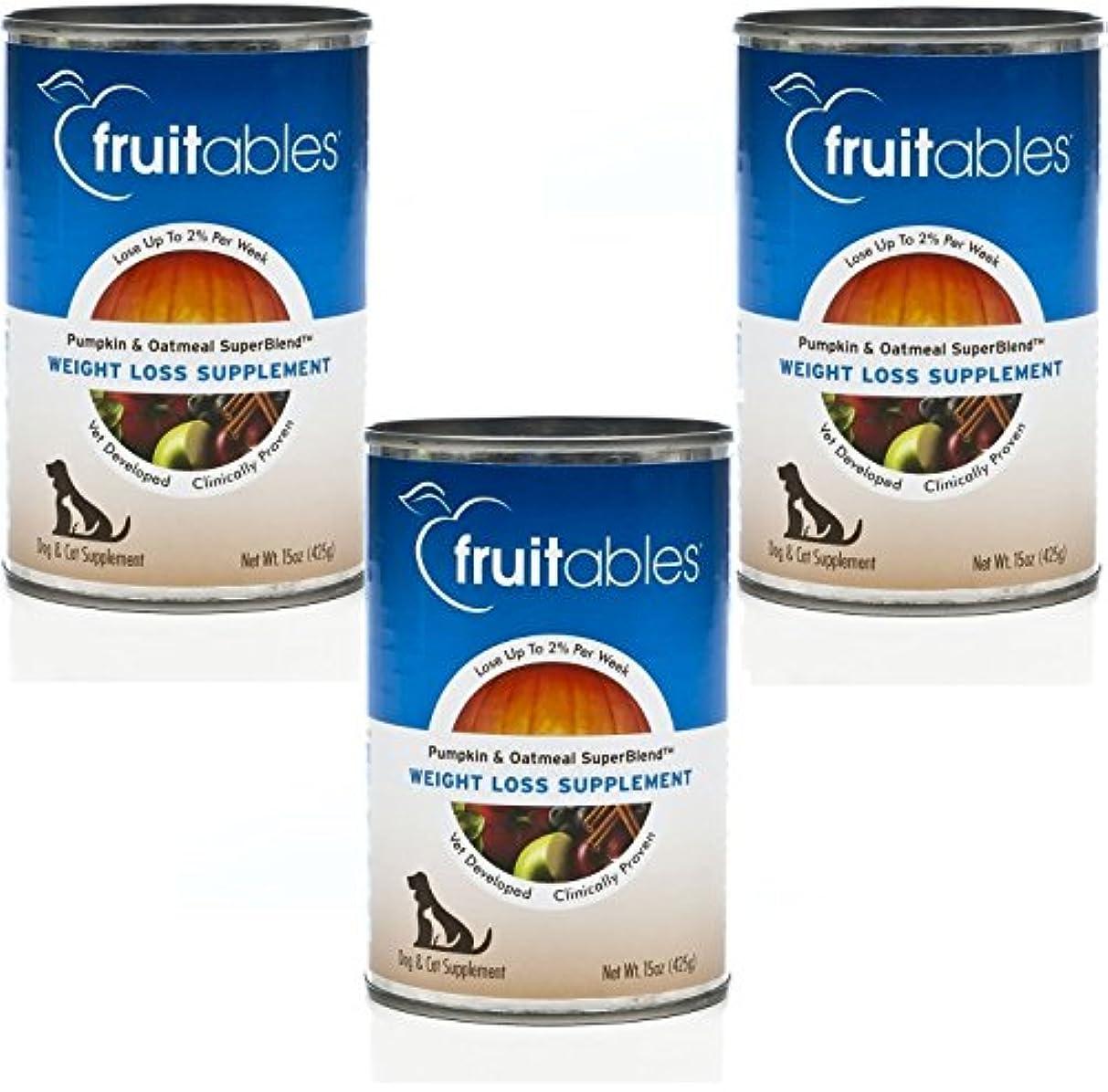 同志アコー入口Fruitable All Natural Weight Loss Pumpkin Oatmeal Dog Cat Canned Supplement 15z