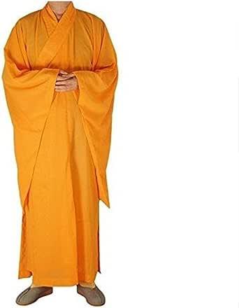 (YOYO HOUSE)コスチューム 僧衣 和尚 ローブ カンフー ロングガウン 少林寺 僧侶 コスプレ衣装