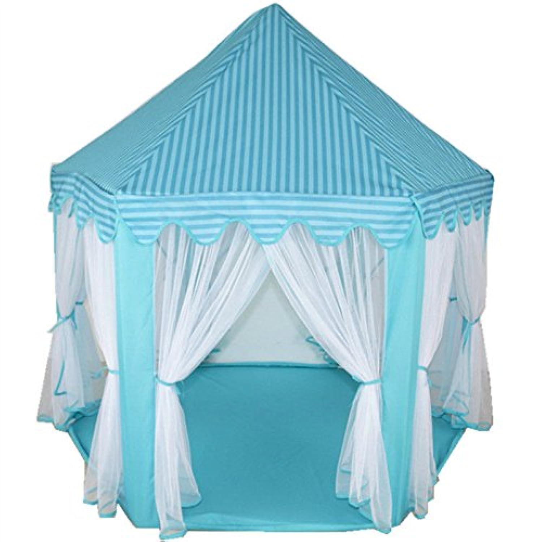 edxtech子供女の子ピンクプリンセス城Playhouse Kids Play Tentキュートアウトドアおもちゃ