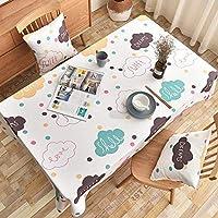 SLhouse ダストカバー布が付いている家の簡単なテーブルクロスのテーブルクロスの長方形のコーヒーテーブルクロス (Color : A, Size : 130*250cm)