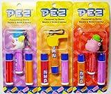 PEZ ペッツ リップクリーム、3種セット Lip Balms