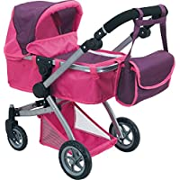 Like Bugaboo Deluxe Doll Stroller Purple & Pink