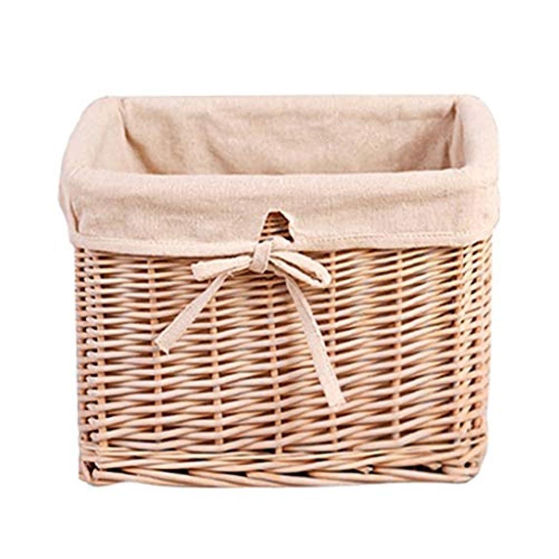 ポンドレーザ散文QYSZYG 家庭用に適した不織布収納バスケットデスクトップ収納ボックス、カバーデザインなし 収納バスケット (サイズ さいず : S s)
