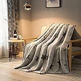 小さな毛布,肥厚したひざ掛け毛布 フランネル 柔らかい毛布 キルト シート昼寝 ソファー キャンプ旅行 エアコン ベッド毛布 暖かいブランケット-A 150*200cm