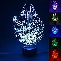 Ewei 3Dビジュアル LEDナイトライト カラフルライト新しい奇妙なカラフルなナイトライトビジュアル3次元3DライトLEDイリュージョンライト 装飾ランプ