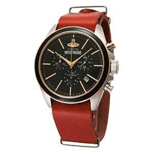 [ヴィヴィアンウエストウッド]Vivienne Westwood 腕時計 CamdenLock クロノグラフ 茶革 ブラック クォーツ メンズ VV069BKBR メンズ 【並行輸入品】