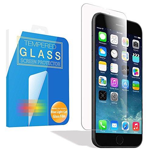 MS factory iPhone 6 ブルーライトカット 90% ガラスフィルム 液晶保護 ブルーライト カット iPhone6 強化ガラス アイフォン6 90日 保証 FD-IP6-BLUEGLS-AB