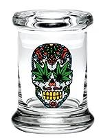 シュガースカルW / Hemp Leaf Pop Top Jar by 420Science–各種サイズ XS JR617XS
